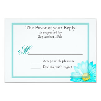 Invitación simple del boda de la margarita de