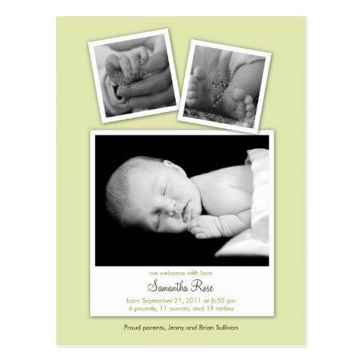 Invitación simple del nacimiento del bebé de las f tarjetas postales