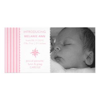 Invitación simple dulce del nacimiento de la foto  tarjetas con fotos personalizadas