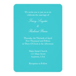 Invitación simple llana blanca del boda de la