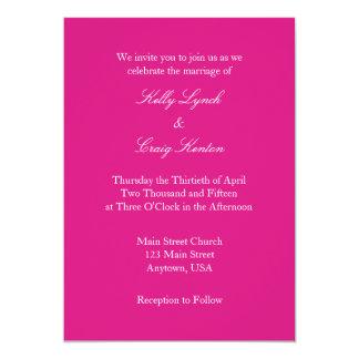 Invitación simple llana blanca del boda de las