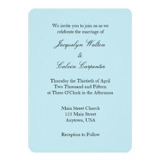 Invitación simple llana blanca del boda de los