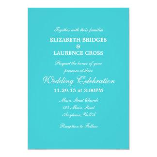 Invitación simple llana del boda de la turquesa