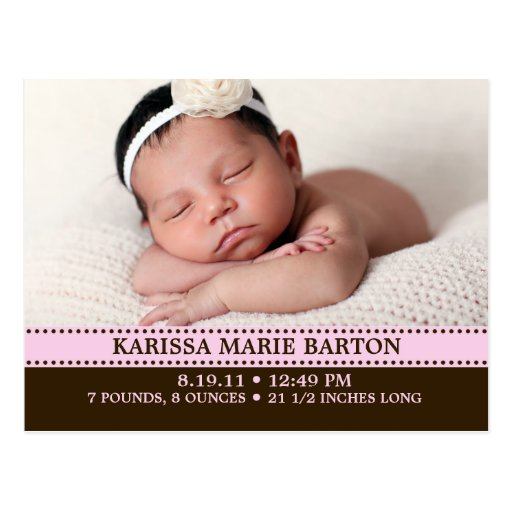 Invitación simplemente encantadora del nacimiento  postal