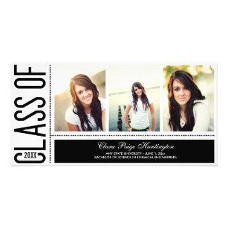 Invitación simplemente fresca de la graduación tarjeta fotografica personalizada
