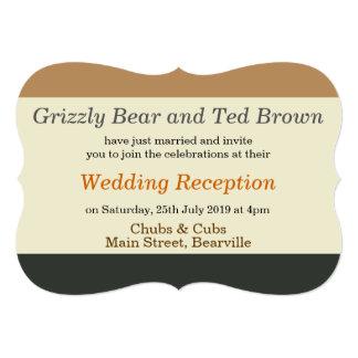 Invitación simplificada de la recepción de la invitación 12,7 x 17,8 cm
