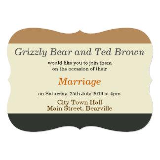 Invitación simplificada del boda de la bandera del invitación 12,7 x 17,8 cm