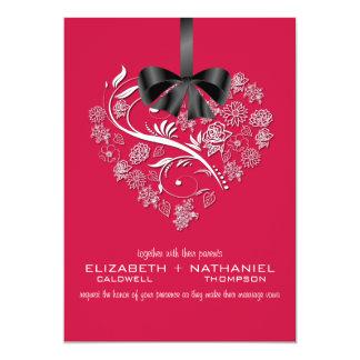 Invitación sin aliento del boda--rojo cereza