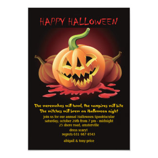 Invitación siniestra de Jack-o-Lattern Halloween