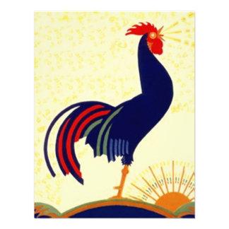 Invitación social del fiesta del gallo de la reuni