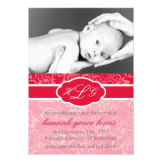Invitación sofisticada del bebé roja