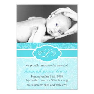 Invitación sofisticada del bebé trullo