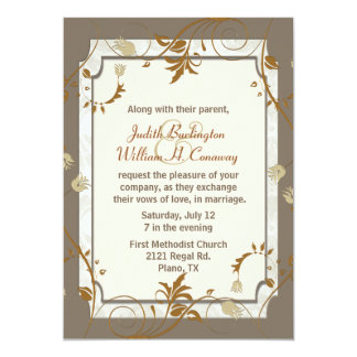Invitación sofisticada del boda de la caída invitación 12,7 x 17,8 cm