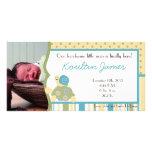 Invitación soleada del nacimiento de la foto de la tarjetas personales