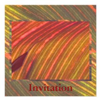 Invitación - sombras de Naranja-Verde