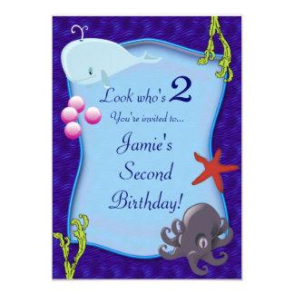 Invitación subacuática de la fiesta de cumpleaños