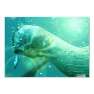 Invitación subacuática de la nutria