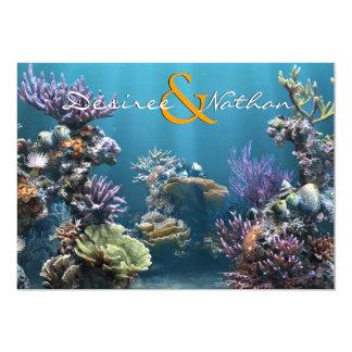 Invitación subacuática del boda