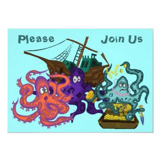 Invitación subacuática enterrada pirata de la vida