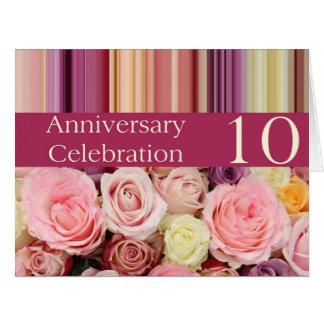 invitación subió 10mo aniversario felicitación
