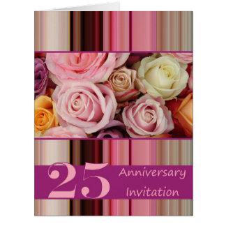 invitación subió 25to aniversario tarjetas