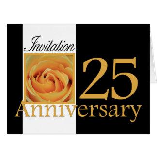 invitación subió 25to aniversario tarjeta