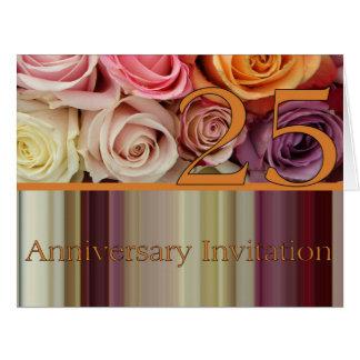 invitación subió 25to aniversario felicitación