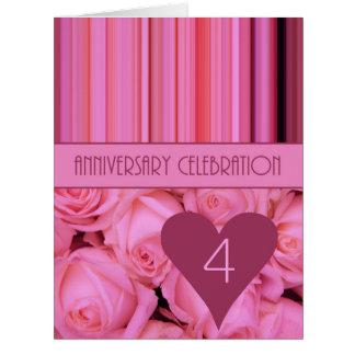 invitación subió 4to aniversario felicitaciones