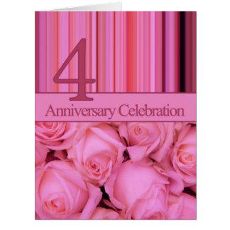 invitación subió 4to aniversario felicitacion