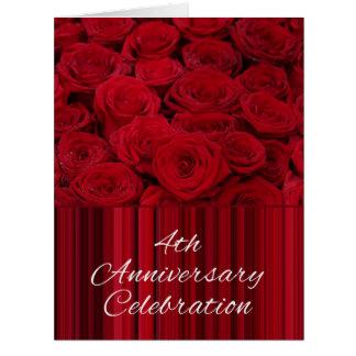 invitación subió 4to aniversario tarjeta