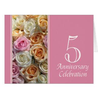 invitación subió 5to aniversario tarjetón