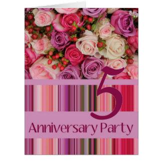 invitación subió 5to aniversario tarjeta