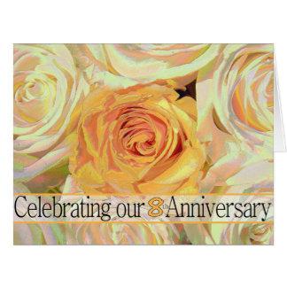 invitación subió 8vo aniversario tarjetas
