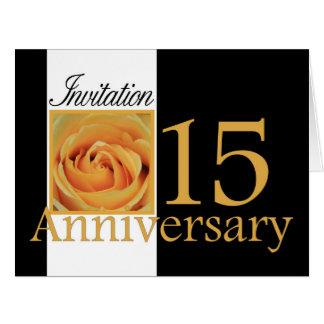 invitación subió décimo quinto aniversario felicitacion