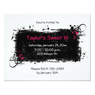 Invitación sucia del fiesta del dulce 16