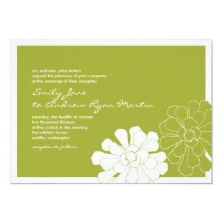 Invitación suculenta del boda invitación 12,7 x 17,8 cm