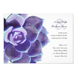 Invitación suculenta del boda de la lila