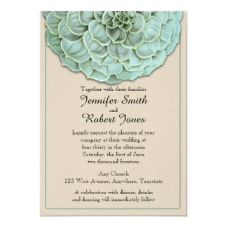 Invitación suculenta sabia del boda invitación 12,7 x 17,8 cm