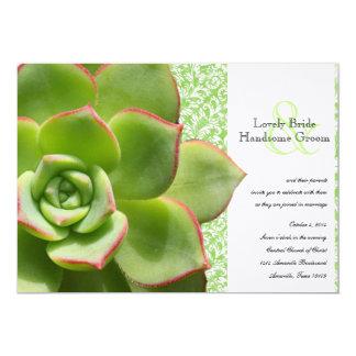 Invitación suculenta verde del boda de las