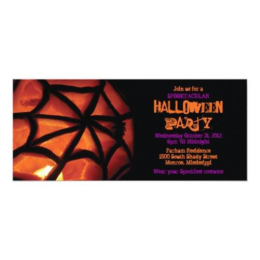 Invitación tallada del fiesta de Halloween de la