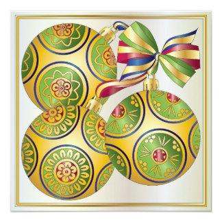 Invitación/tarjeta de los ornamentos del navidad