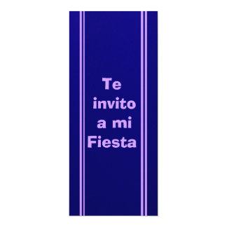 Invitación - Te invito a mi Fiesta - Azul 4x9.25 Paper Invitation Card