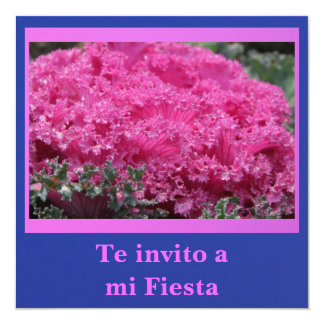 Invitación - Te invito a mi Fiesta - Col Rosa Card