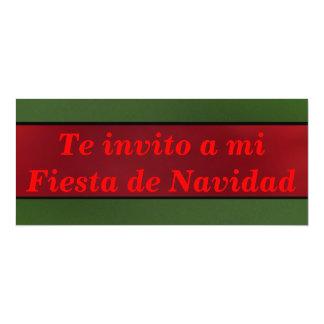 Invitación - Te invito a mi Fiesta de Navidad 4x9.25 Paper Invitation Card