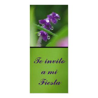 Invitación - Te invito a mi Fiesta - Flor Púrpura Card
