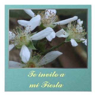 Invitación - Te invito a mi Fiesta - Flores Card