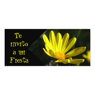Invitación -Te invito a mi Fiesta - Margarita 4x9.25 Paper Invitation Card