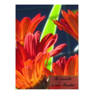 Invitación -Te invito a mi Fiesta - Margaritas Card