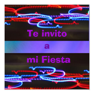 Invitación -Te invito a mi Fiesta - Multicolor Card