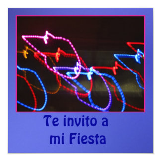 Invitación - Te invito a mi Fiesta - Multicolor Card